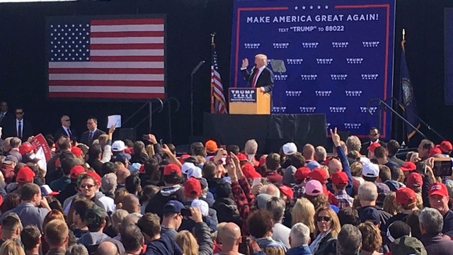 Donald Trump denies sexual assault allegations at rally in Portsmouth ...